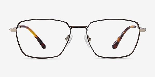 Eren Bronze Gold Titanium Eyeglass Frames