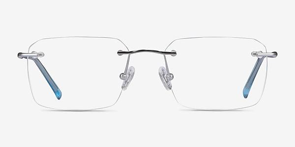 Nate Silver Clear Blue Titane Montures de lunettes de vue