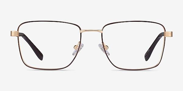 Bolton Gold Brown Titane Montures de lunettes de vue