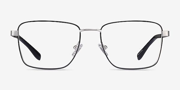 Bolton Silver Black Titanium Eyeglass Frames