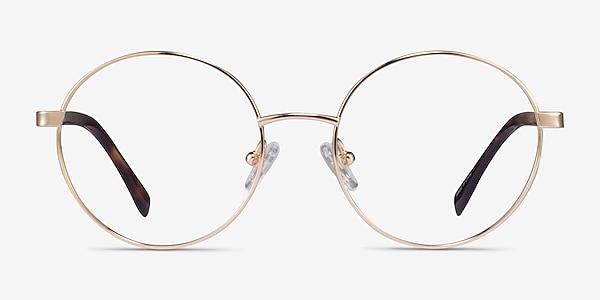 Sahel Gold Titanium Eyeglass Frames