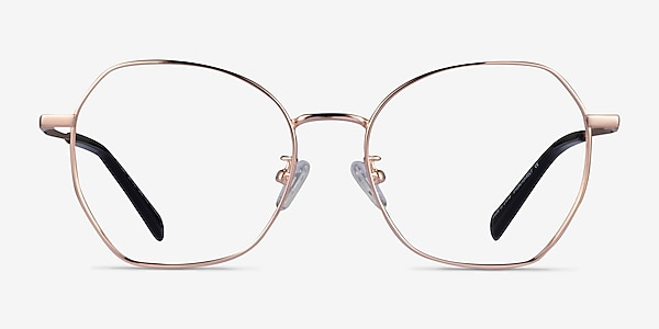 Anissa Rose Gold Titanium Eyeglass Frames