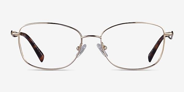 Dianele Gold Titanium Eyeglass Frames