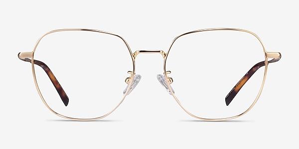 Alphabet Gold Titanium Eyeglass Frames