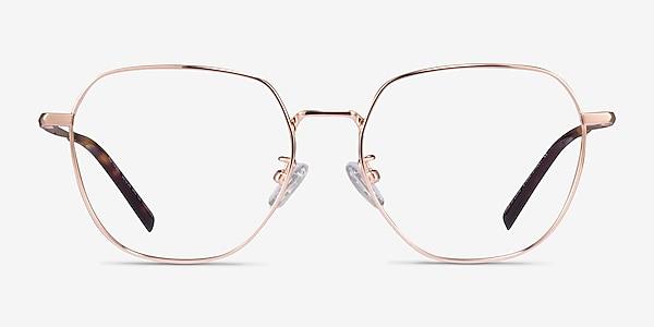 Alphabet Rose Gold Titanium Eyeglass Frames