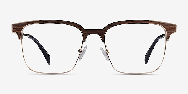 Evergreen Gold & Wood Wood-texture Eyeglass Frames