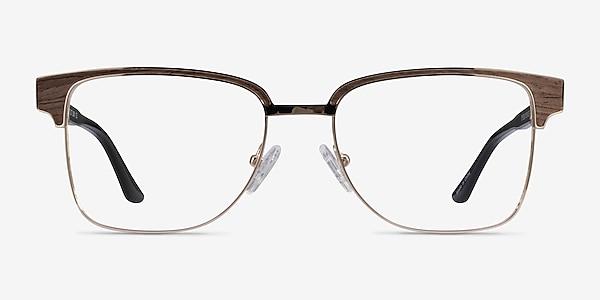 Biome Gold, Black & Dark Wood Acetate Eyeglass Frames