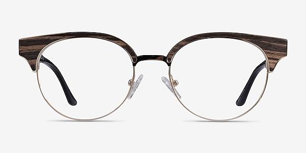 Wilderness Gold Black Metal Eyeglass Frames