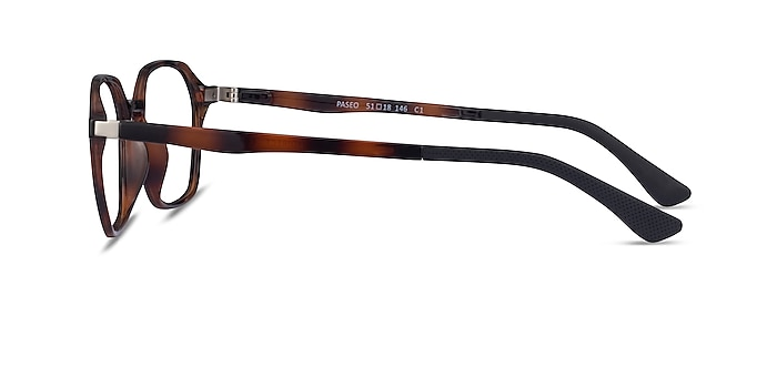 Paseo Clip-On Tortoise Plastic Eyeglass Frames from EyeBuyDirect