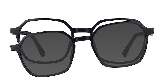 Paseo Clip-On Black Plastic Eyeglass Frames from EyeBuyDirect