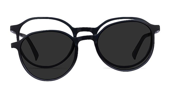 Esplanade Clip-On Clear Gray Plastique Montures de lunettes de vue d'EyeBuyDirect