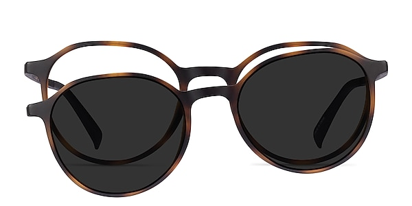 Esplanade Clip-On Matte Tortoise Plastic Eyeglass Frames