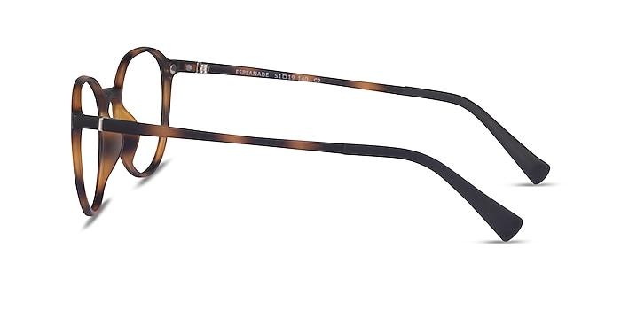 Esplanade Clip-On Matte Tortoise Plastic Eyeglass Frames from EyeBuyDirect