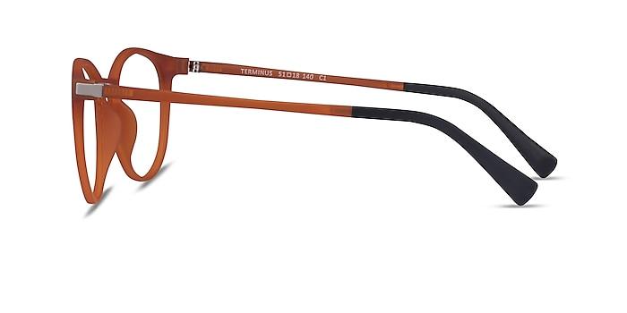 Terminus Clip-On Matte Orange Plastique Montures de lunettes de vue d'EyeBuyDirect
