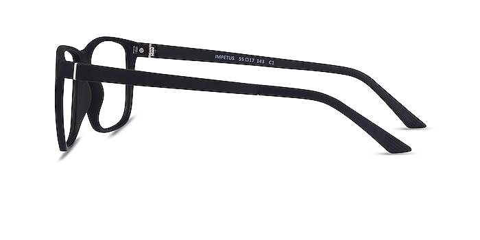 Impetus Clip-On Black Plastic Eyeglass Frames from EyeBuyDirect