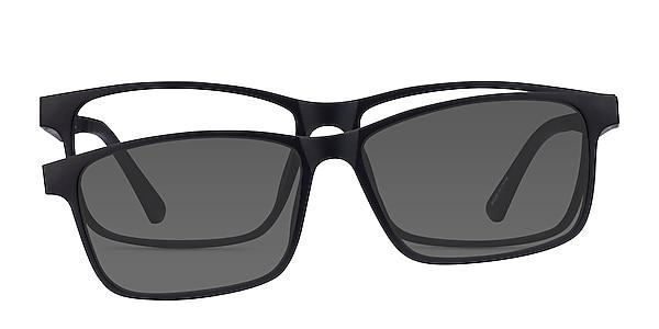Ascutney Clip-On Black Plastic Eyeglass Frames