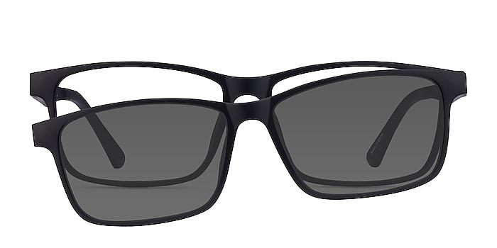 Ascutney Clip-On Black Plastic Eyeglass Frames from EyeBuyDirect