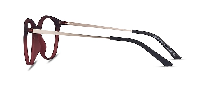 Alternative Clip-On Matte Burgundy Metal Eyeglass Frames from EyeBuyDirect