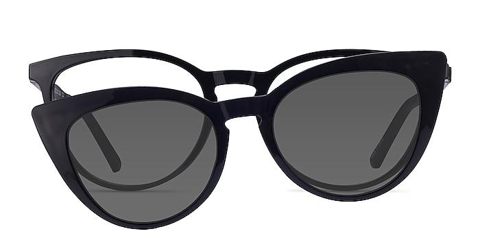 Patio Clip-On Black Plastic Eyeglass Frames from EyeBuyDirect