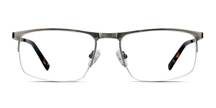 Wayne Gunmetal Silver Metal Eyeglass Frames from EyeBuyDirect