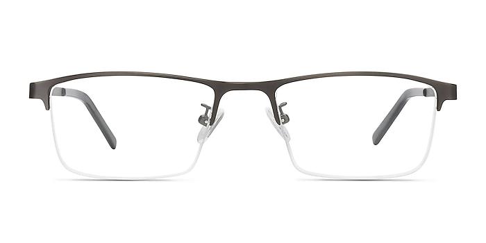 Algorithm Gray Metal Eyeglass Frames from EyeBuyDirect