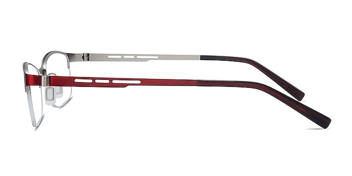 Pearl Red Metal Eyeglass Frames from EyeBuyDirect