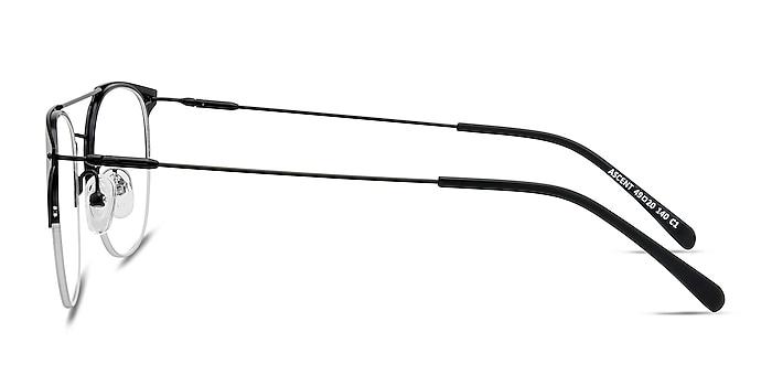 Ascent Black Metal Eyeglass Frames from EyeBuyDirect