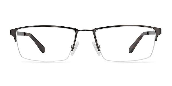 Bowler Gunmetal Metal Eyeglass Frames