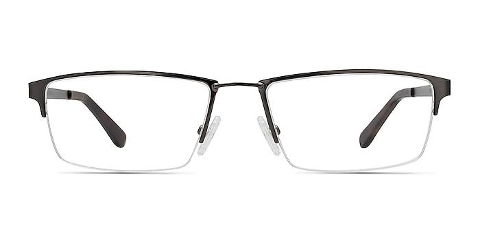 Bowler Gunmetal Metal Eyeglass Frames from EyeBuyDirect