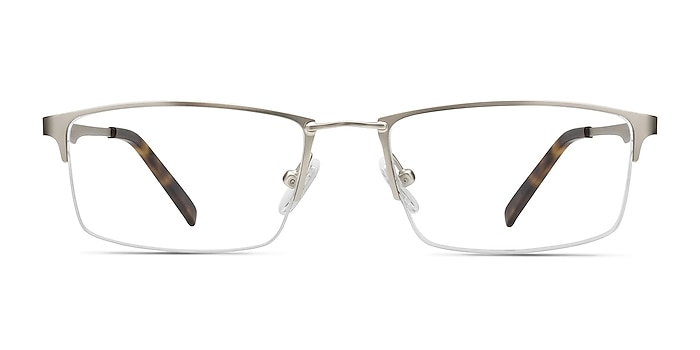 Furox Silver Metal Eyeglass Frames from EyeBuyDirect