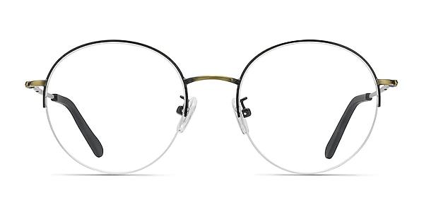 Albee Black Bronze Metal Eyeglass Frames