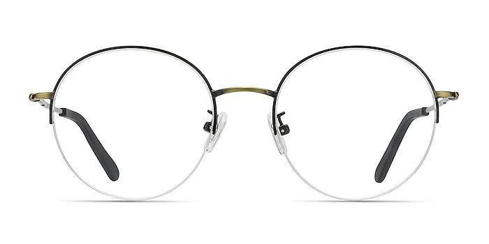 Albee Black Bronze Metal Eyeglass Frames from EyeBuyDirect