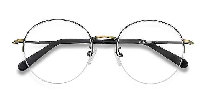 Black Bronze Albee -  Vintage Metal Eyeglasses