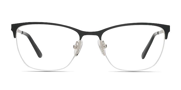 Lille Noir Métal Montures de lunettes de vue d'EyeBuyDirect