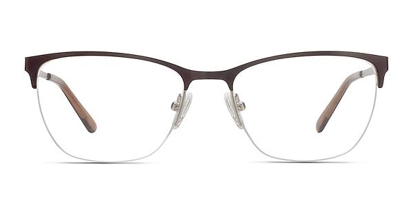 Lille Brown Metal Eyeglass Frames