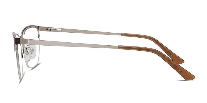 Lille Brown Metal Eyeglass Frames from EyeBuyDirect