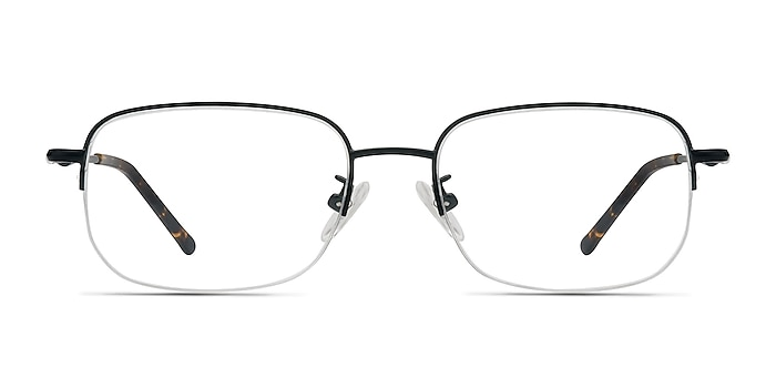 Munroe Black Metal Eyeglass Frames from EyeBuyDirect