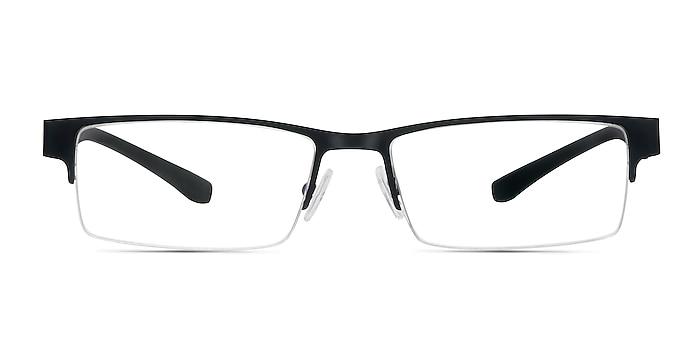 Macon Black Metal Eyeglass Frames from EyeBuyDirect