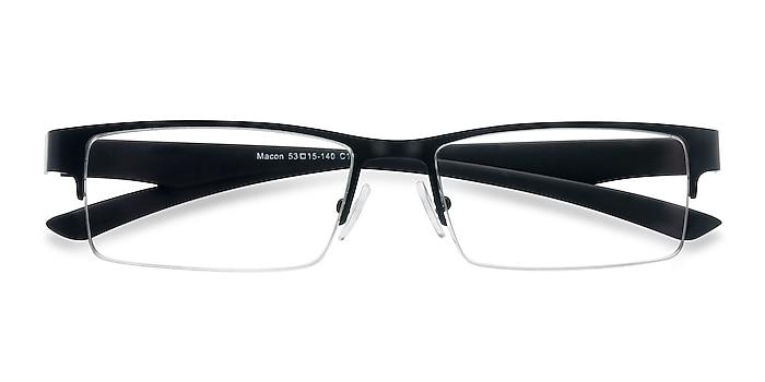 Black Macon -  Metal Eyeglasses