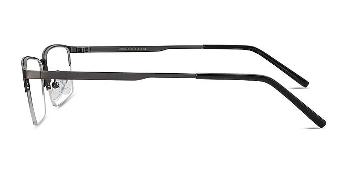 Vienna Gray Metal Eyeglass Frames from EyeBuyDirect