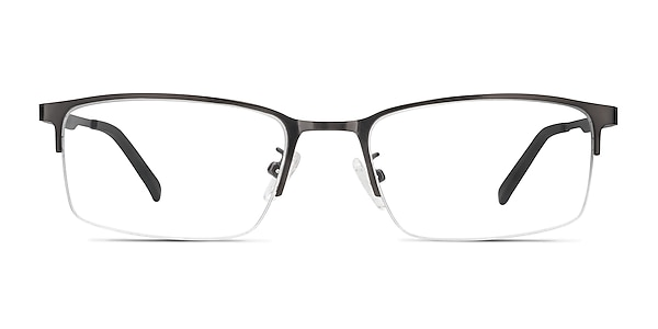 Bezel Dark Charcoal Metal Eyeglass Frames