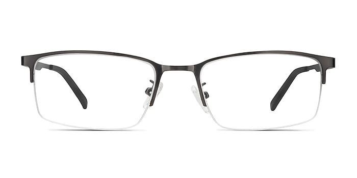 Bezel Dark Charcoal Métal Montures de lunettes de vue d'EyeBuyDirect