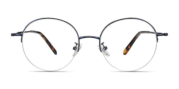 Albee Blue Metal Eyeglass Frames from EyeBuyDirect