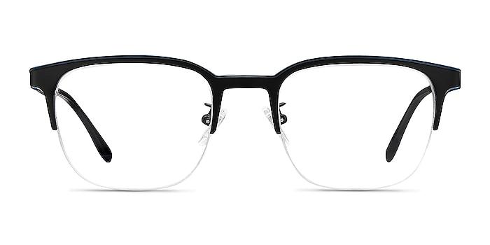 Fathom Blue Black Métal Montures de lunettes de vue d'EyeBuyDirect