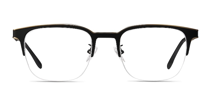 Fathom Bronze Black Metal Eyeglass Frames from EyeBuyDirect