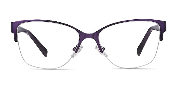Feline Purple Acetate-metal Eyeglass Frames