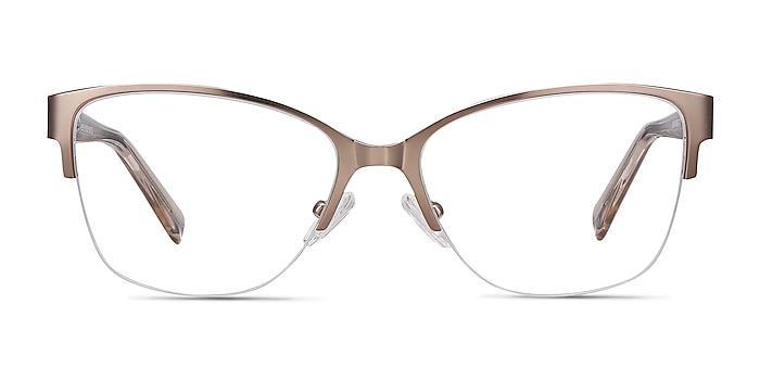 Feline Rose Gold Acetate-metal Eyeglass Frames from EyeBuyDirect