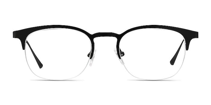 Hemisphere Black Metal Eyeglass Frames from EyeBuyDirect