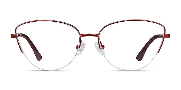 Star Burgundy Metal Eyeglass Frames from EyeBuyDirect