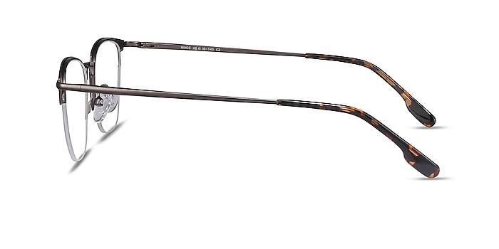 Wings Black Metal Eyeglass Frames from EyeBuyDirect